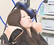 経頭蓋磁気刺激治療(TMS)の様子